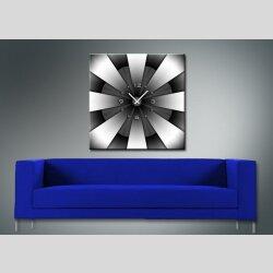 3613 Dixtime Designer Wanduhr, Enigma, quadratische Wanduhren, stilvolle Bürouhr, Wohnraumuhr 70cm x 70cm