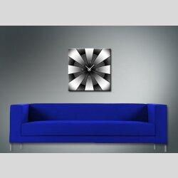 3613 Dixtime Designer Wanduhr, Enigma, quadratische Wanduhren, stilvolle Bürouhr, Wohnraumuhr 40cm x 40cm