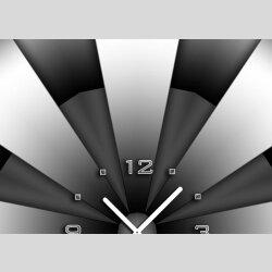 3613 Dixtime Designer Wanduhr, Enigma, quadratische Wanduhren, stilvolle Bürouhr, Wohnraumuhr 30cm x 30cm