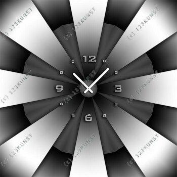 3613 Dixtime Designer Wanduhr, Enigma, quadratische Wanduhren, stilvolle Bürouhr, Wohnraumuhr