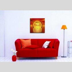 3088 Dixtime Designer Wanduhr 90cm x 90cm Sonnenuntergang quadratische traumhafte Wohnraumuhr