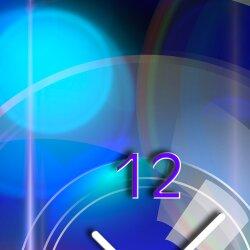 Wanduhr XXL 3D Optik Dixtime abstrakt blau 30x90 cm hochkant leises Uhrwerk GL-005H
