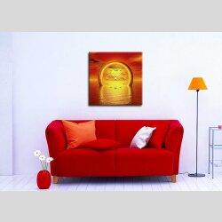 3088 Dixtime Designer Wanduhr 50cm x 50cm Sonnenuntergang quadratische traumhafte Wohnraumuhr