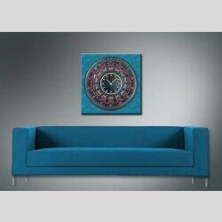 3800 Dixtime Designer Wanduhr, Wanduhren, Moderne Wohnraumuhr  70cm x 70cm