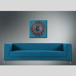 3800 Dixtime Designer Wanduhr, Wanduhren, Moderne Wohnraumuhr  40cm x 40cm