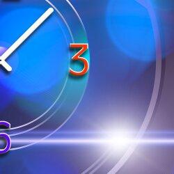 Wanduhr XXL 3D Optik Dixtime abstrakt blau 30x90 cm leises Uhrwerk GL-005