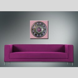 3801 Dixtime Designer Wanduhr, Wanduhren, Moderne Wohnraumuhr  70cm x 70cm