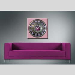 3801 Dixtime Designer Wanduhr, Wanduhren, Moderne Wohnraumuhr  50cm x 50cm