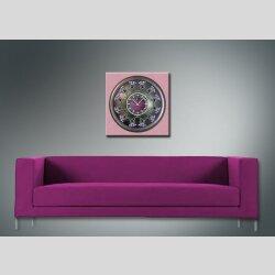 3801 Dixtime Designer Wanduhr, Wanduhren, Moderne Wohnraumuhr  30cm x 30cm