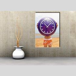 3828 Dixtime Designer Wanduhr, Wanduhren, Moderne Bürouhr  70cm x 100cm