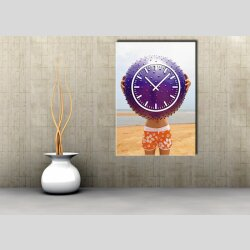 3828 Dixtime Designer Wanduhr, Wanduhren, Moderne Bürouhr  35cm x 50cm